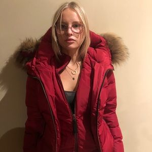 Mackage Red Puffer coat, worn once